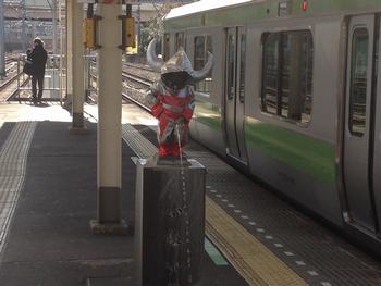 浜松町駅のウルトラマン